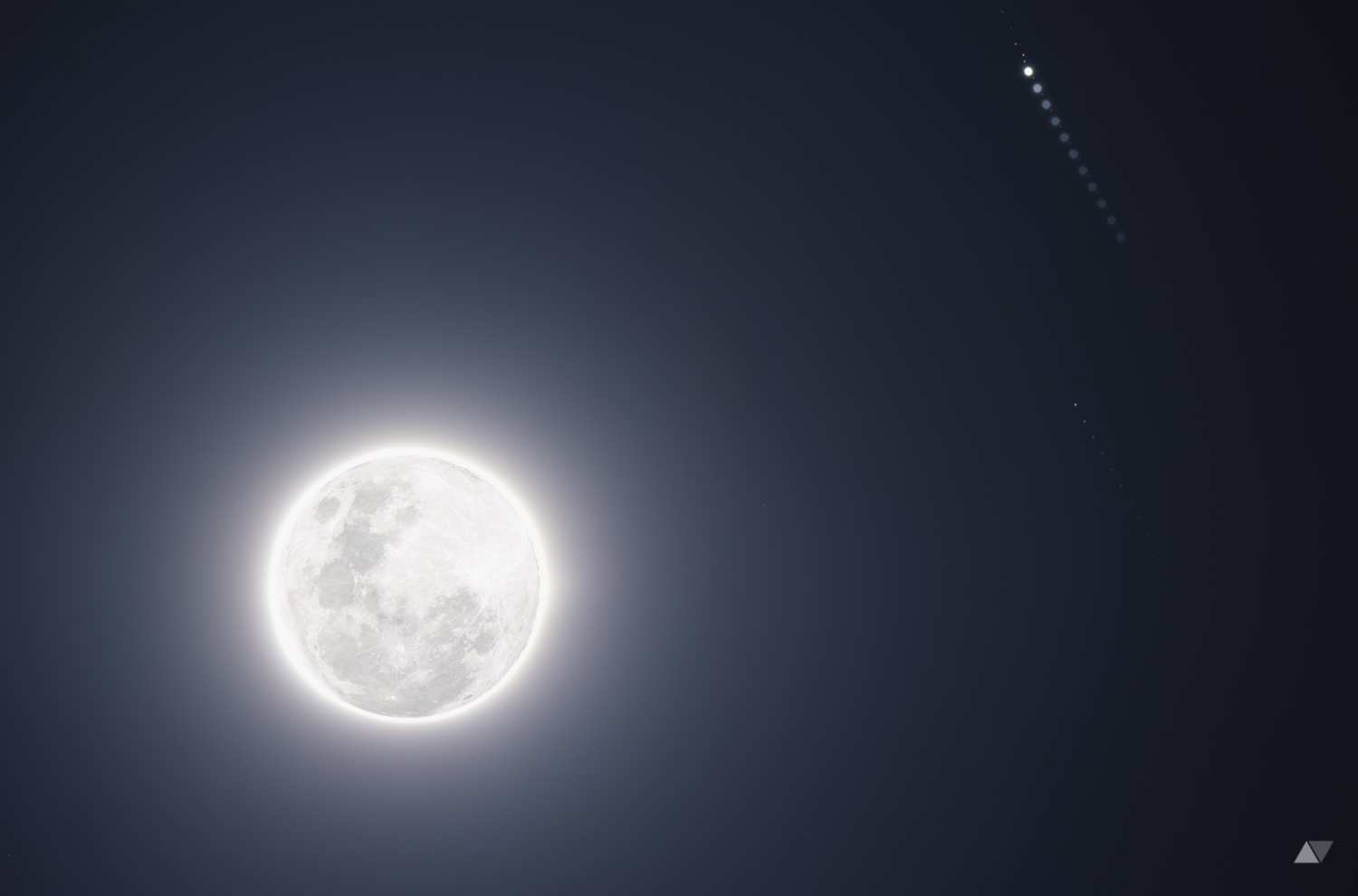 Moon and Jupiter Conjunction